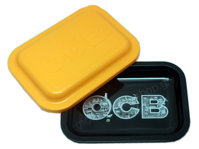 9034 - OCB METAL TRAY MULTICOLOR STORAGE SMALL + COVER ΔΙΣΚΟΣ ΓΙΑ ΣΤΡΙΦΤΟ