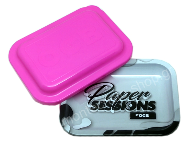 9037 - OCB METAL TRAY MULTICOLOR PAPER SESSIONS SMALL + COVER