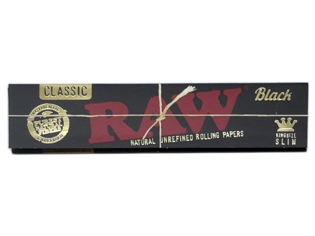 RAW BLACK King Size SLIM Classic 32 φύλλα