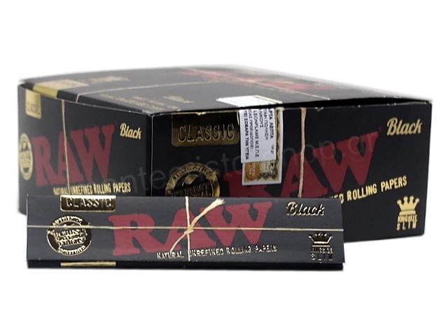 9064 - RAW BLACK King Size SLIM Classic 32 φύλλα (κουτί των 50)