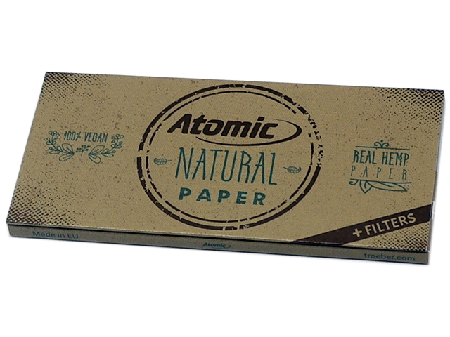 ATOMIC Natural Papers King Size Maxi Pack με τζιβάνες 0164500 (13.5 g/m2)
