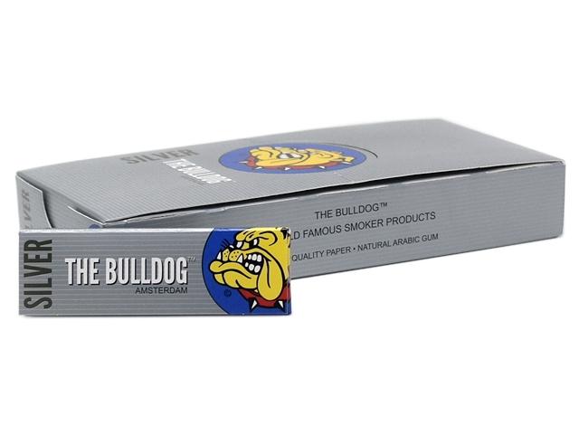 9116 - Χαρτάκια στριφτού THE BULLDOG SILVER REGULAR 50 (κουτί των 25)
