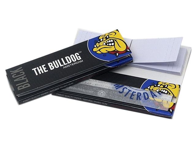 9119 - Χαρτάκια στριφτού THE BULLDOG BLACK 1&1/4 + TIPS 40 με τζιβάνες