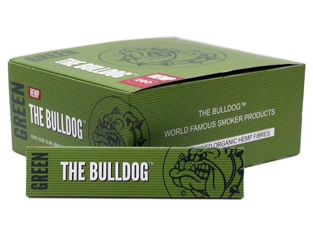 9122 - Χαρτάκια στριφτού THE BULLDOG GREEN KING SIZE SLIM ΑΚΑΤΕΡΓΑΣΤΟ 33 (κουτί των 50)