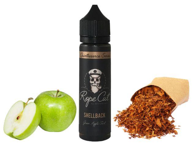 9182 - ROPE CUT Flavour Shot SHELLBACK 20/60ml (καπνικό με πράσινο μήλο)