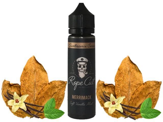 9186 - ROPE CUT Flavour Shot MERRIMACK 20/60ml (καπνικό με δυόσμο και βανίλια)