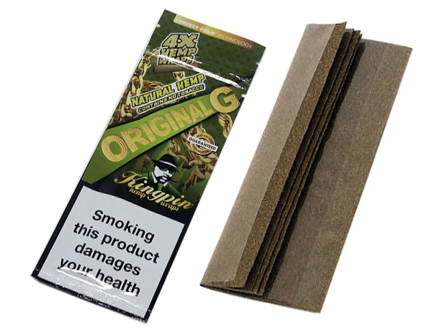 9205 - Kingpin Original G Hemp Wraps (με 4 πουρόφυλλα)