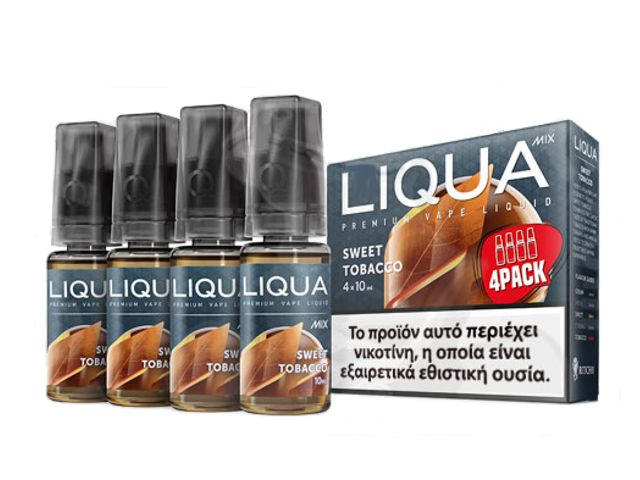 Liqua SWEET TOBACCO MIX 4*10ml (traditional tobacco με καραμέλα & βανίλια)