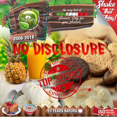 9256 - NATURA SHAKE AND TASTE NO DISCLOSURE 100ml (μπισκότο μπανάνα ανανάς)