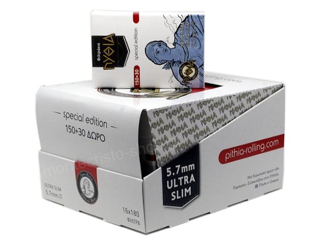 9332 - Φιλτράκια Πυθία 180 EXTRA SLIM 5.7mm (κουτί των 16)