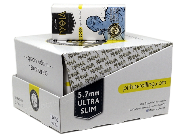 9334 - Φιλτράκια Πυθία 150 EXTRA SLIM 5.7mm (κουτί των 18)