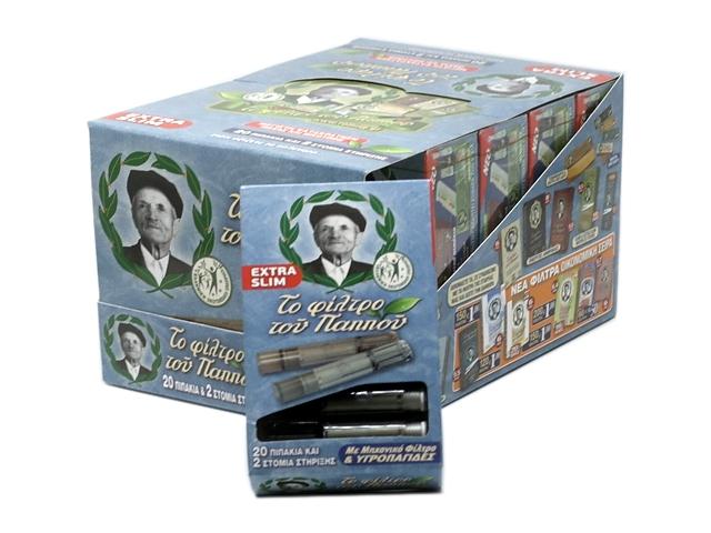 Πιπάκια του παππού 42902-078 EXTRA SLIM (κουτί των 10)