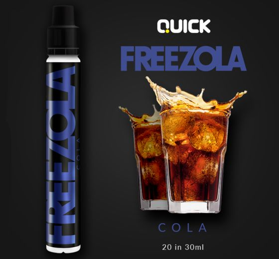 9346 - Quick Mix Shake Vape FREEZOLA 20/30ml (κόκα κόλα)