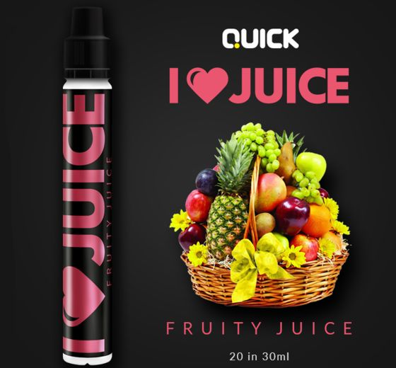 9349 - Quick Mix Shake Vape I LOVE JUICE 20/30ml (διάφορα φρούτα)