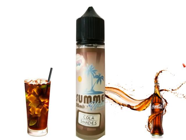9448 - DINNER LADY SUMMER FLAVOUR SHOT MIX AND SHAKE COLA SHADES 20/60ml (κόκα κόλα με λεμόνι) μίξη με VG