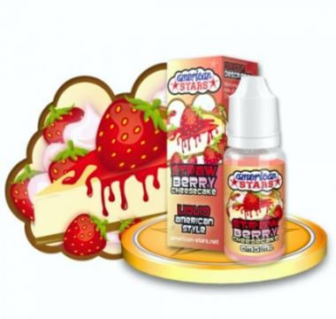 Υγρό αναπλήρωσης American Stars STRAWBERRY CHEESECAKE 10ml (cheesecake φράουλα)