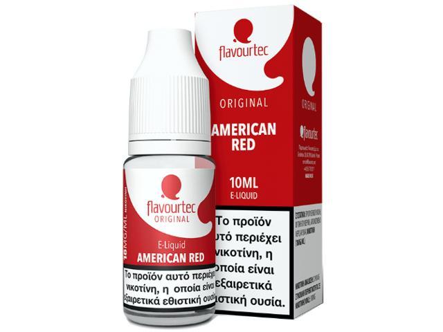 Υγρό αναπλήρωσης Flavourtec AMERICAN RED 10ml (καπνικό)