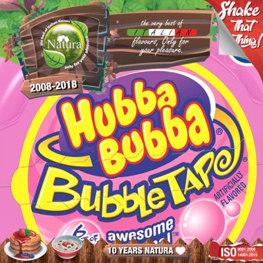 9519 - NATURA SHAKE AND TASTE BIG BUBBLE 60/100ml (τσιχλόφουσκα)