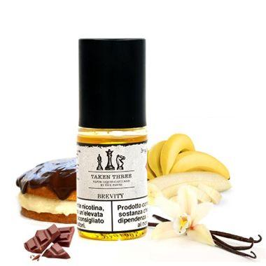 9559 - Υγρό αναπλήρωσης Taken Three BREVITY 10ml (κέικ με σοκολάτα, κρέμα, μπανάνα και βανίλια)