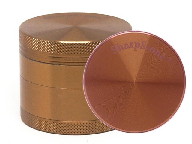 Τρίφτης καπνού SHARPSTONE AL 2.2 (4 parts) GRINDER 53mm 12375 BROWN (καφέ αλουμίνιο)