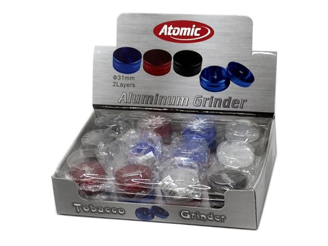 9596 - Τρίφτης καπνού Atomic Alu Grinder 30mm 0212368 (αλουμίνιο) κουτί των 24