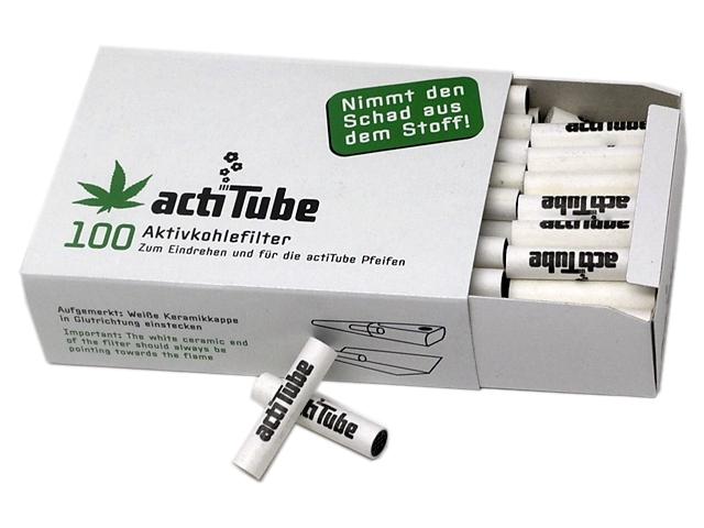9014 - actiTube 100 φίλτρο ενεργού άνθρακα 8mm ΓΙΑ ΠΙΠΕΣ ΚΑΠΝΟΥ 9mm