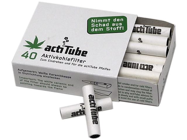 actiTube 40 φίλτρο ενεργού άνθρακα 8mm ΓΙΑ ΠΙΠΕΣ ΚΑΠΝΟΥ 9mm