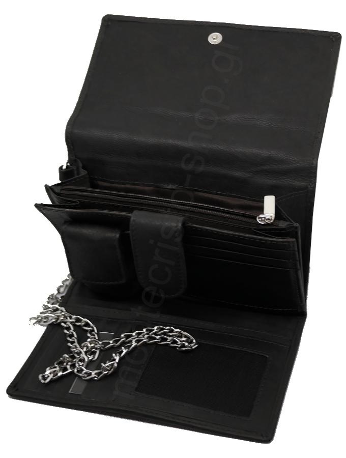 6190249bb1 ZIPPO 2005129 Leather Biker Wallet Καπνοθήκη - Πορτοφόλι - Τσαντάκι  δερμάτινη