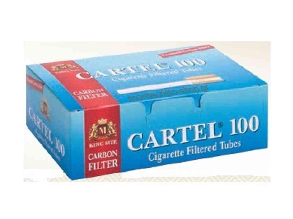 1880 - Άδεια τσιγάρα CARTEL 100 CARBON FILTER ΕΝΕΡΓΟΥ ΑΝΘΡΑΚΑ Tubes με 100 τσιγαροσωλήνες
