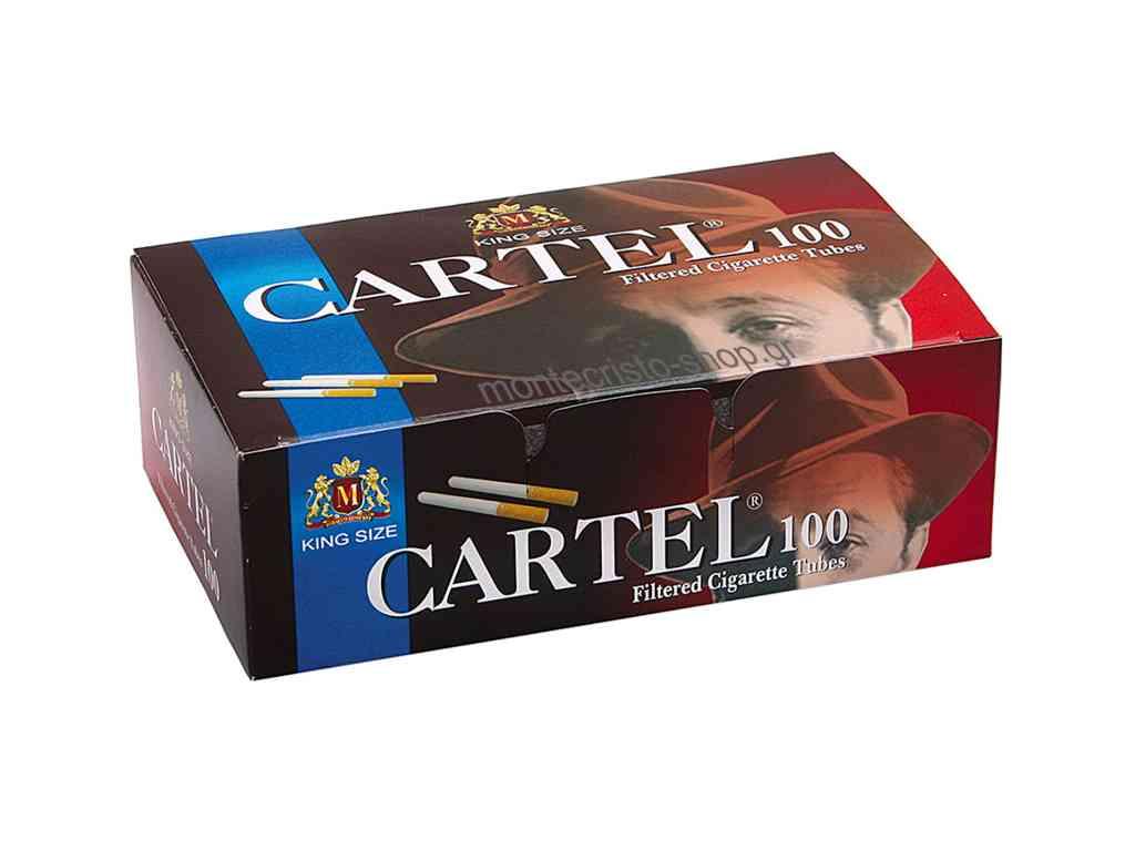 Άδεια τσιγάρα CARTEL 100 Filtered Cigarette Tubes King Size με 100 τσιγαροσωλήνες