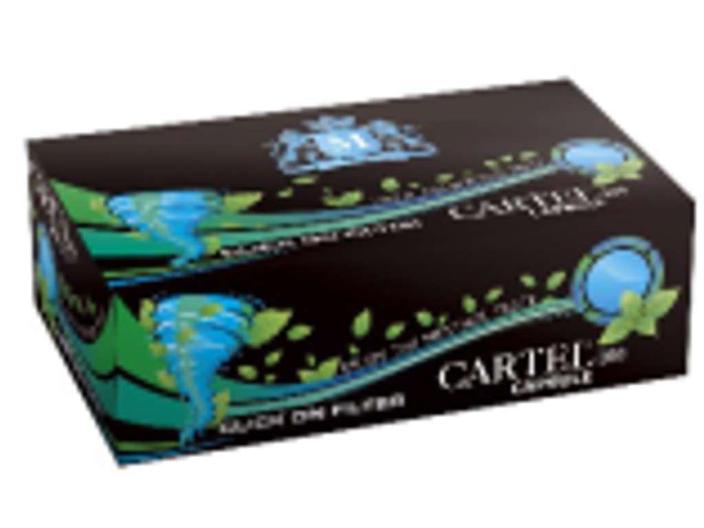 2051 - Άδεια τσιγάρα Cartel Capsule Menthol 100 με κάψουλα μέντας