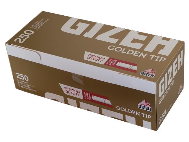 Άδεια τσιγάρα Gizeh Golden Tip Tubes 250 (άσπρο φίλτρο)