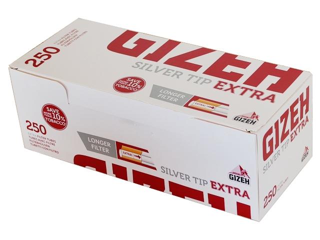 4424 - Άδεια τσιγάρα Gizeh Silver Tip EXTRA Tubes 250 (μακρύ φίλτρο)