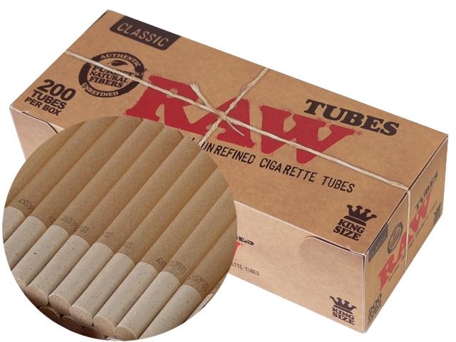 5082 - Άδεια τσιγάρα RAW TUBES 200 ακατέργαστο