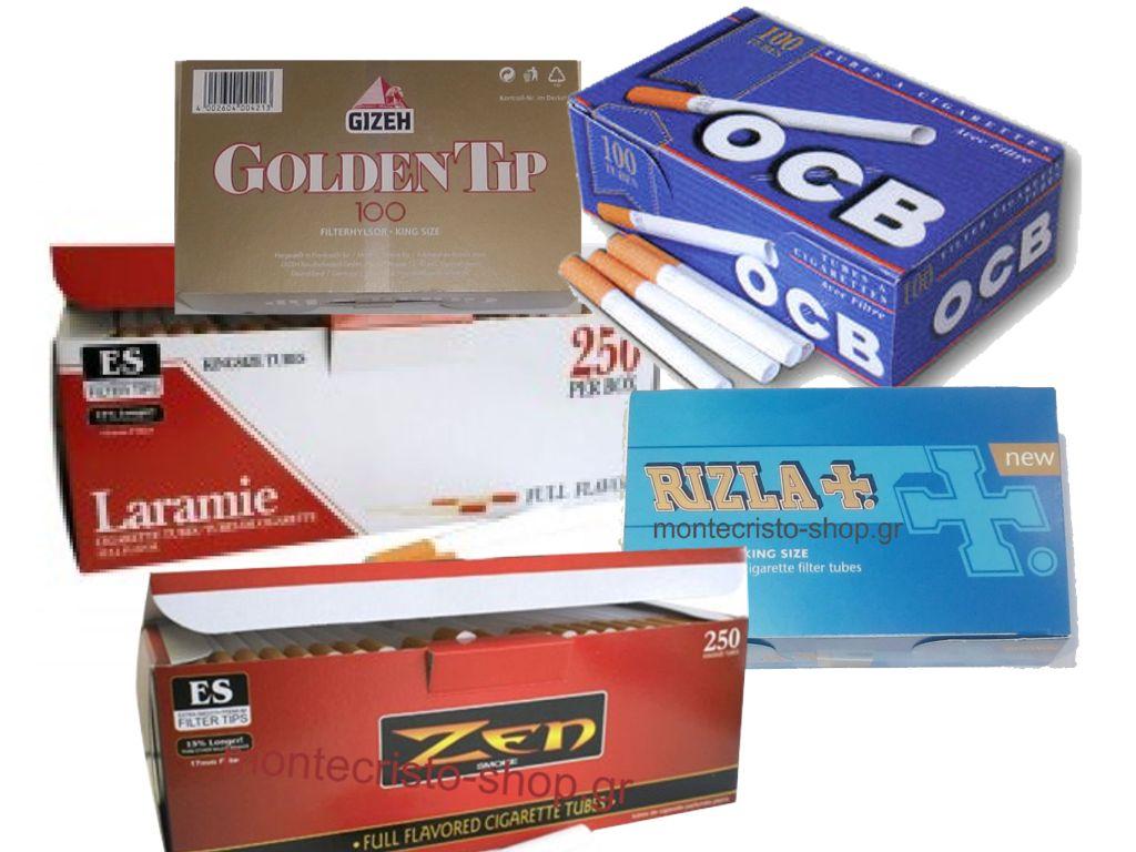 Άδεια Τσιγάρα τσιγαροσωλήνες για γέμισμα