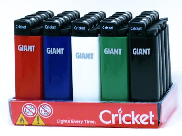 11317 - Αναπτήρας Cricket GIANT EDO 20155106 (μεγάλος πέτρας) κουτί 25 τεμ