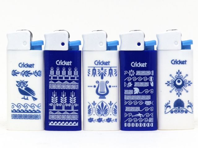 10987 - Αναπτήρας Cricket Greek Symbols Mini 22125308 (τυχαία επιλογή)