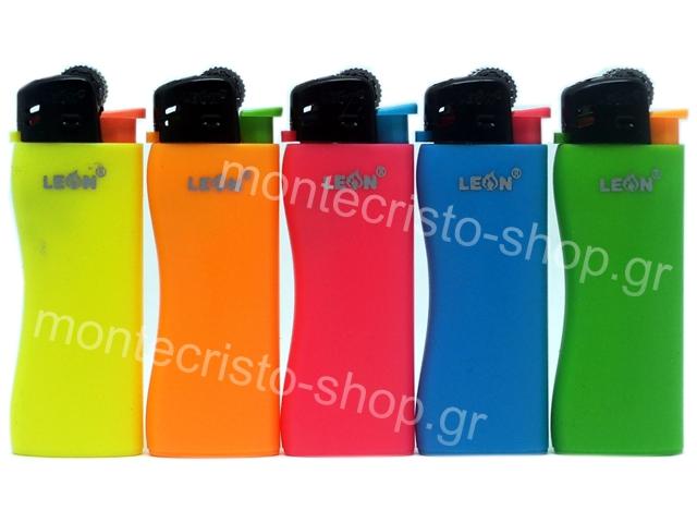 8347 - Αναπτήρας Leon Mini Lighter (WAVE) Disposable Neon Colours 170102