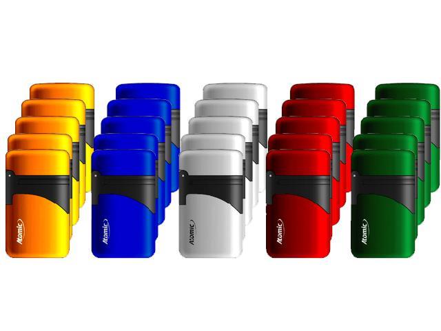 Αναπτήρας φλόγιστρο 25 τεμαχίων Atomic Electronic Lighter Exclusive Blue Jetflame Refillable Metallic Assorted