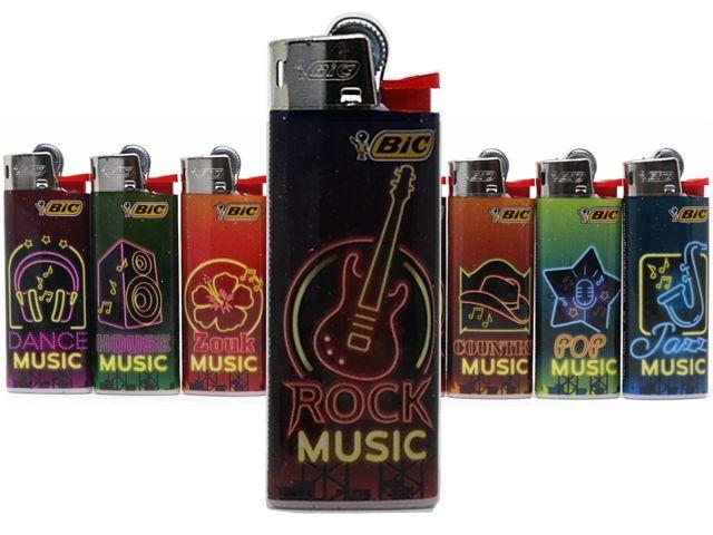 10931 - Αναπτήρες Bic Mini J25 NEON MUSIC (8 τεμάχια)