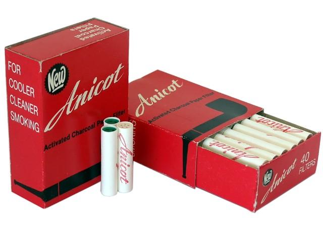 ANICOT 9mm 40 φίλτρα ενεργού άνθρακα φίλτρα πίπας καπνού
