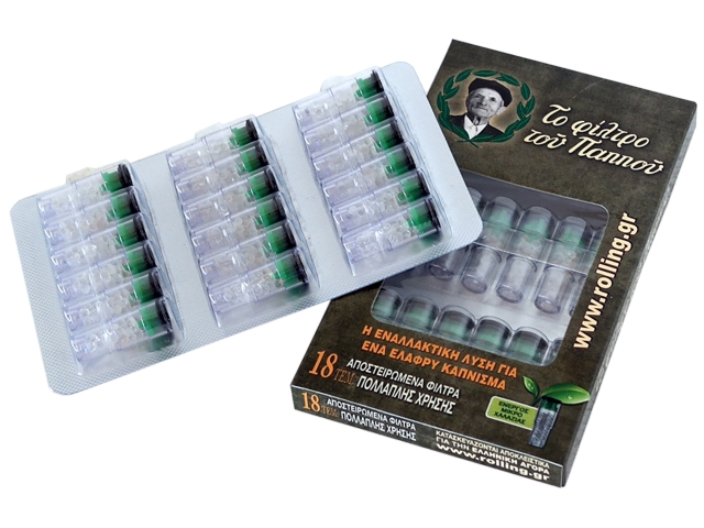 Ανταλλακτικό φίλτρο του Παππού 42902-001 ενεργού μικρο χαλαζία πίπας τσιγάρου