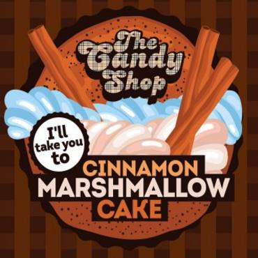 5554 - Άρωμα BIG MOUTH LIQUIDS THE CANDY SHOP I ll take you Cinnamon Marshmallow Cake 10ml (κέικ με κανέλα και ζάχαρη )