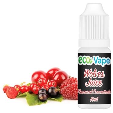 4761 - Άρωμα Eco Vape WOLVES JUICE 10ml (βατόμουρο μύρτιλλο κεράσι)