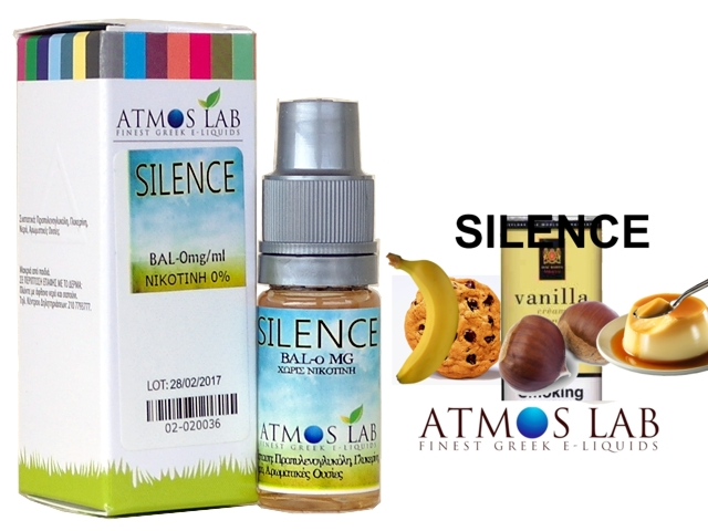 Atmos Lab SILENCE (βανίλια, κρέμα, καραμέλα, μπανάνα, κάστανο, μπισκότο) 10ml