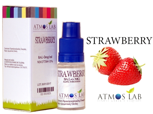 3491 - Atmos Lab STRAWBERRY (φράουλα) 10ml