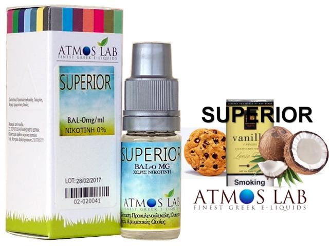 4296 - Atmos Lab SUPERIOR (καπνός βανίλια, καρύδα, μπισκότο) 10ml
