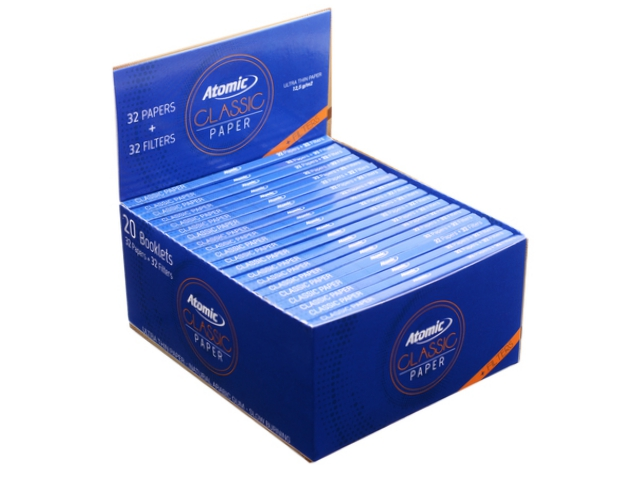 9092 - ATOMIC Classic Papers King Size Maxi Pack με τζιβάνες 0164501 (12.5 g/m2) κουτί των 20