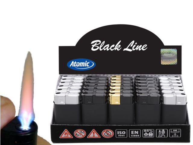 10625 - Atomic Maxx Turbo Black LIne 3654110 κουτί με 30 αντιανεμικούς αναπτήρες