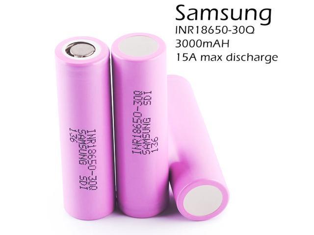 5159 - Αυθεντική μπαταρία Samsung 18650 INR 18650 30Q SD1 3.7V 3000mAh 15Α